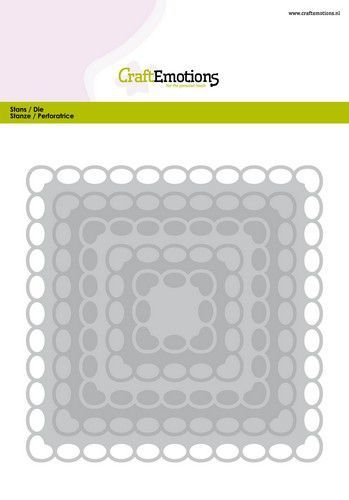 CraftEmotions Big Nesting Die - vierkanten scalop XL oval Card 150x160 6,8-15,0cm (01-20)