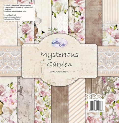 "Paper Collection Set 12""*12"" Mysterious Garden"