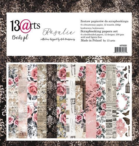 "Paper Collection Set 12""*12"" - Rosalie, 250 gsm"