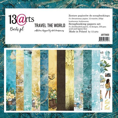 "Paper Collection Set 12""*12"" - Travel the World, 250 gsm"