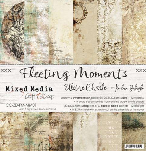 "Paper Collection Set 12""*12"" Fleeting Moments, Mixed Media, 250 gsm"