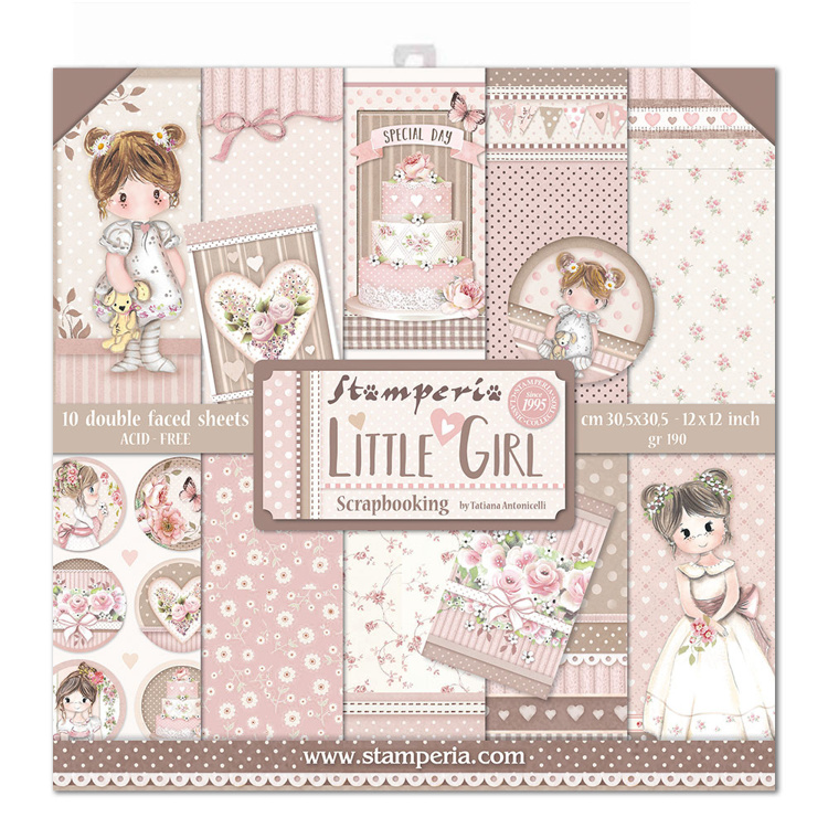 Stamperia Little Girl 12x12 Inch Paper Pack
