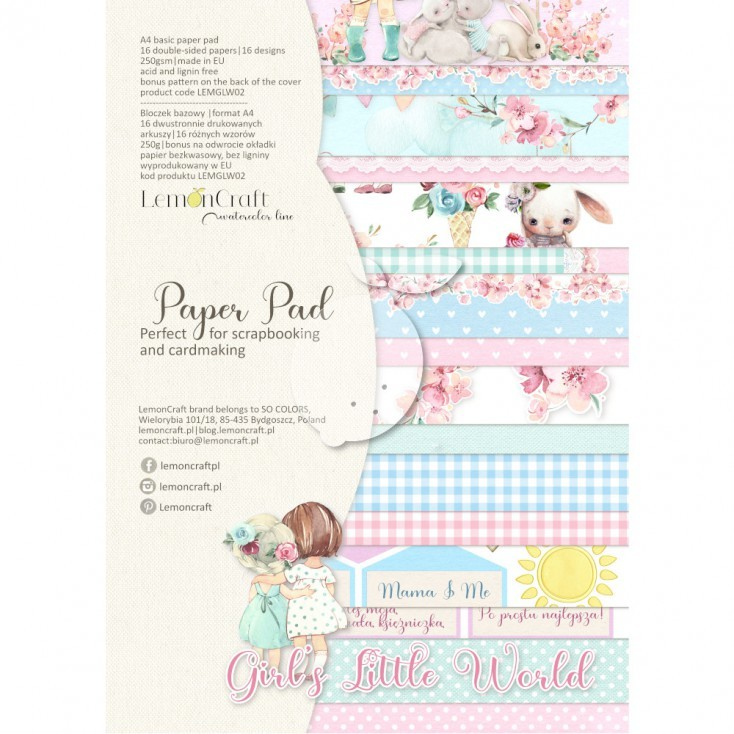 Lemoncraft - Paper Collection Set A4 - Girl's Little World