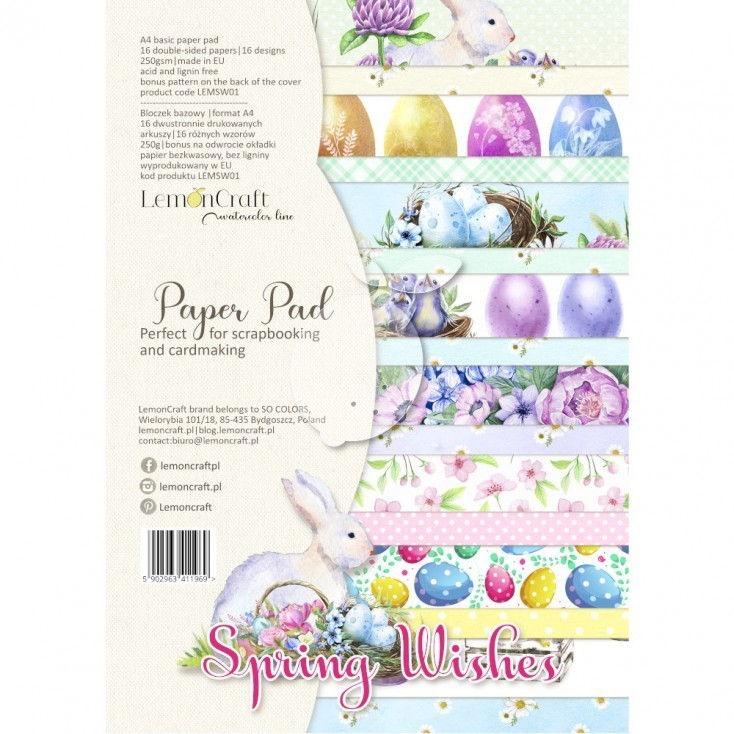 Lemoncraft - Paper Collection Set A4 - Spring Wishes