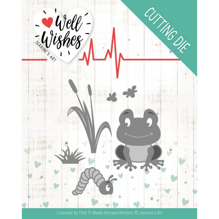 Dies - Jeanine's Art - Well Wishes - Smiling Frog