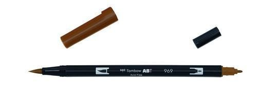 Tombow ABT dubbele brushpen chocolate ABT-969