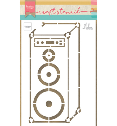 ps8062 craft stencil Music speaker by Marleen