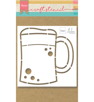 ps8063 craft stencil Beer mug by Marleen