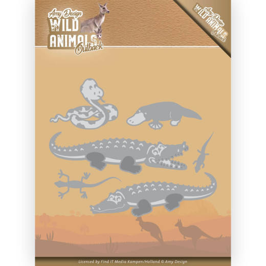 Dies - Amy Design - Wild Animals Outback - Crocodile