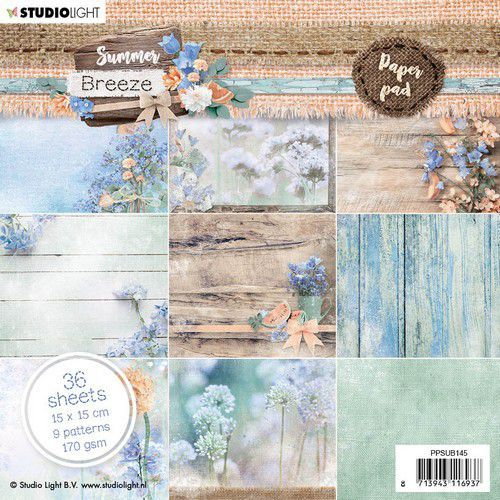 Studio Light paper Pad Summer Breeze no.145 PPSUB145 15x15 cm (04-20)