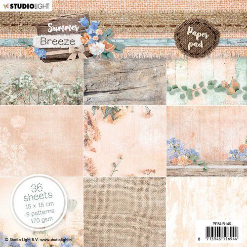 Studio Light paper Pad Summer Breeze no.146 PPSUB146 15x15 cm (04-20)