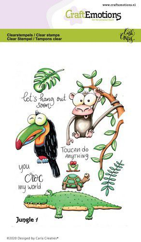 CraftEmotions clearstamps A6 - Jungle 1 Carla Creaties (05-20)