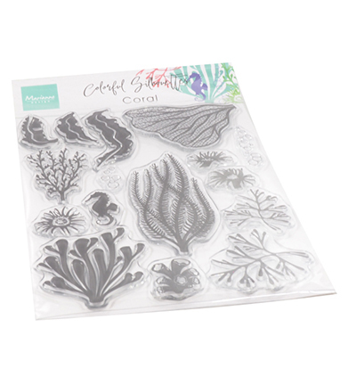 cs1062 clearstamps Colorfull Silhouette - Coral