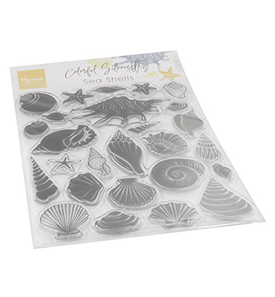 cs1061 clearstamp Colorfull Silhouette - Sea Shells