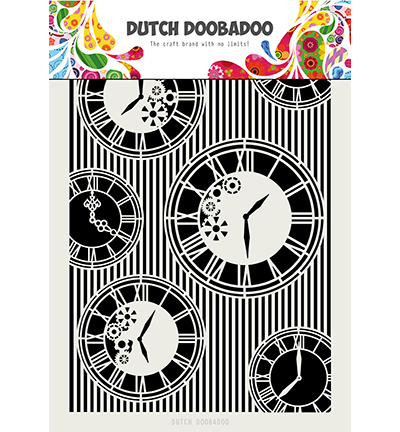 DDBD Mask Art Clocks Stripes
