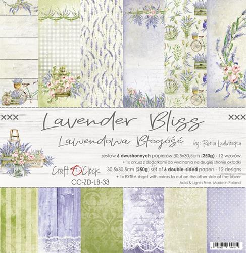 "Paper Collection Set 12""*12"" Lavender Bliss"