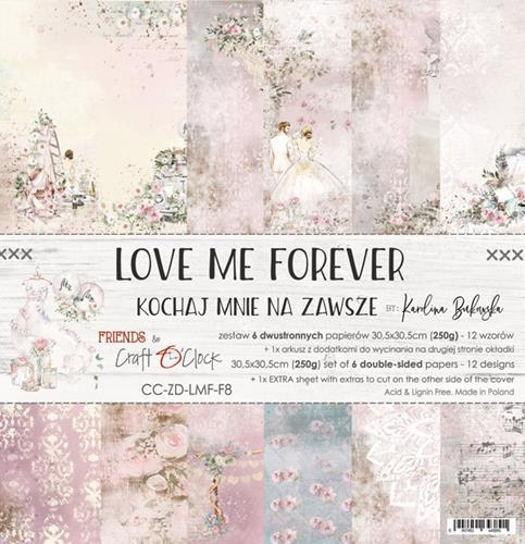 "Paper Collection Set 12""*12"" Love Me Forever"