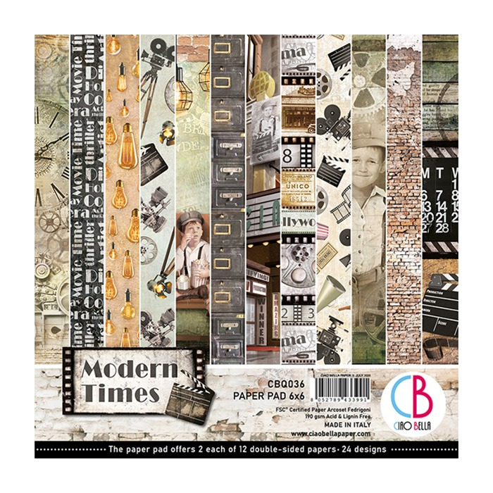"MODERN TIMES DOUBLE-SIDED PAPER PAD 6""X6"" 24/PKG"