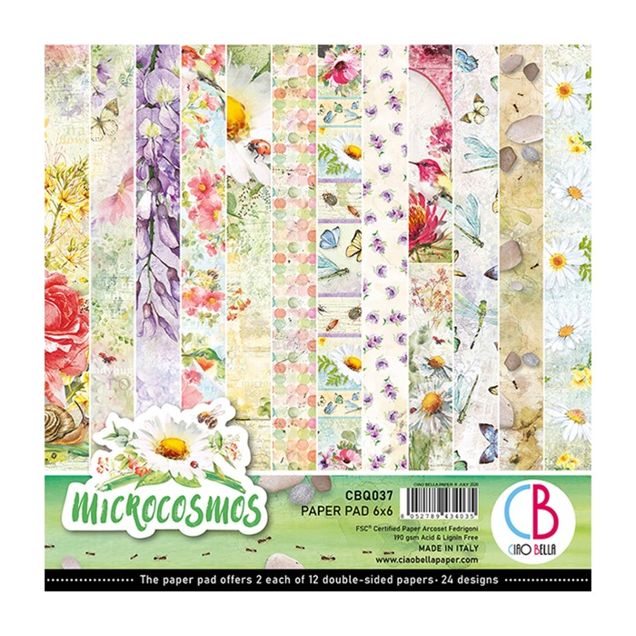 "MICROCOSMOS DOUBLE-SIDED PAPER PAD 6""X6"" 24/PKG"
