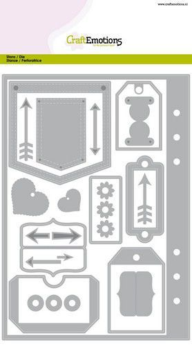 CraftEmotions Die - Planner essentials 1 Card A5 (03-20)