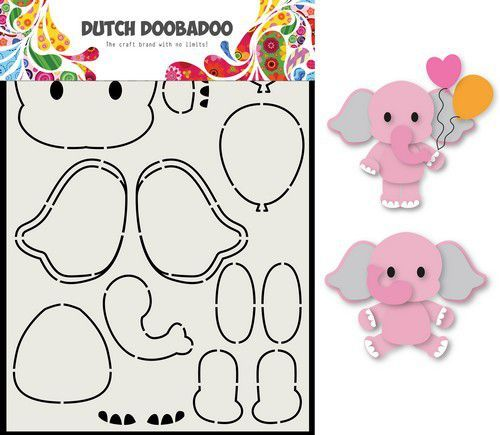 Dutch Doobadoo Card Art Olifant A5 470.713.795 (06-20)
