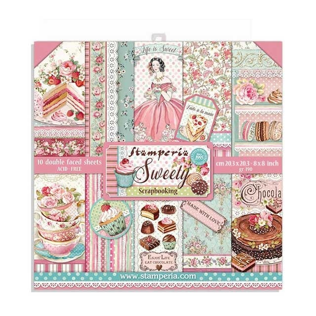 Stamperia Sweety 8x8 Inch Paper Pack