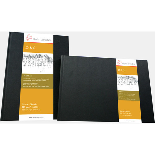 "Hahnemühle Square Stitched D&S Sketch Book (Black Cover, 5.5 x 5.5"", 80 Sheets)"