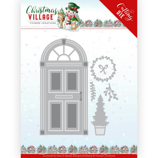 Dies - Yvonne Creations - Christmas Village - Christmas Door