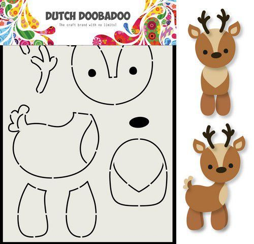 Dutch Doobadoo Card Art Rendier A5 470.713.796 (07-20)