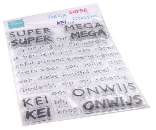 cs1066 Marianne D Clear Stamps SUPER-MEGA-KEI-ONWIJS (NL) CS1066 110x150mm   (08-20)