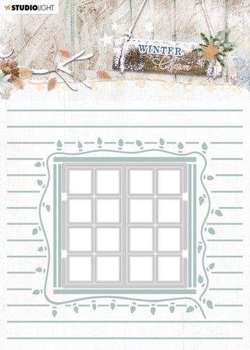 Studio Light Embossing Folder With Die Cut, Winter Charm nr. 08 EMBWC08 (09-20)