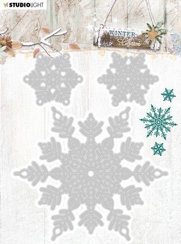 Studio Light Embossing Die Cut Stencil Winter Charm nr.324 STENCILWC324 94x124mm (09-20)