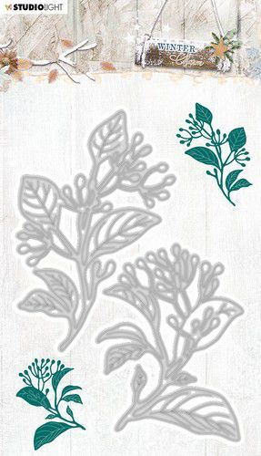 Studio Light Embossing Die Cut Stencil Winter Charm nr.325 STENCILWC325 101x146mm