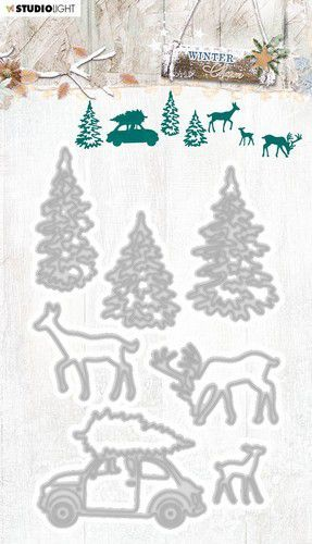 Studio Light Embossing Die Cut Stencil Winter Charm nr.326 STENCILWC326 92x141mm (09-20)