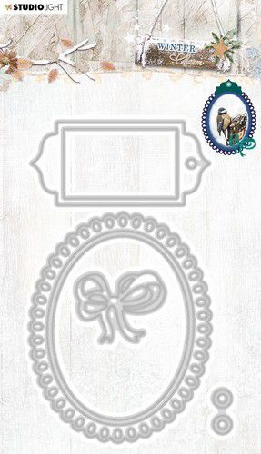 Studio Light Embossing Die Cut Stencil Winter Charm nr.327 STENCILWC327 91x143mm (09-20)