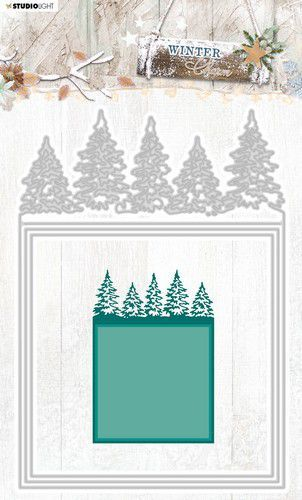 Studio Light Embossing Die Cut Stencil Winter Charm nr.330 STENCILWC330 142x202mm (09-20)