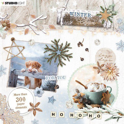 Studio Light Die Cut Book 15x15 Winter Charm nr.665 EASYWC665 (09-20)