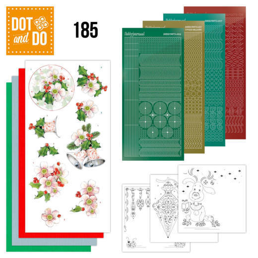 Dot and Do 185 - Jeanine's Art - Christmas Flowers - Pink Christmas Flowers