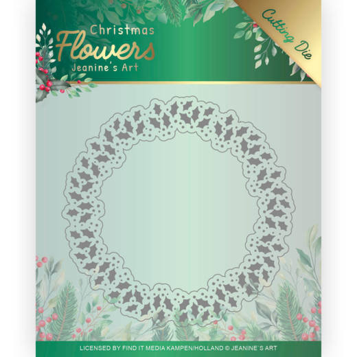Dies - Jeanines Art  Christmas Flowers - Holly Christmas Wreath