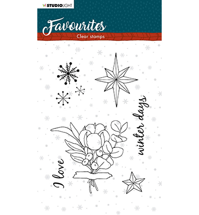 Studio Light - Clear Stamp - Winter's Favourites - nr.505