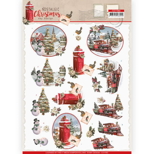 3D cutting sheet - Amy Design - Nostalgic Christmas - Christmas Train