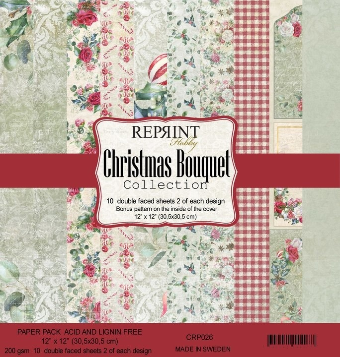 Reprint Christmas Bouquet Collection 12x12 Inch Paper Pack