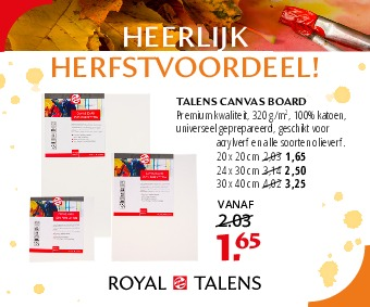 TALENS CANVAS BOARD