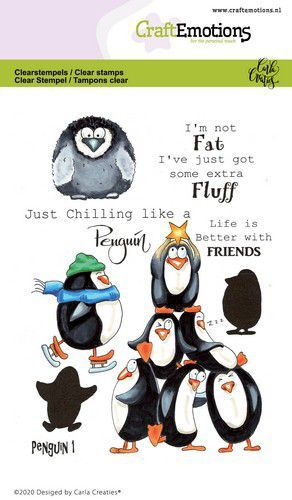 CraftEmotions clearstamps A6 - Penguin 1 Carla Creaties (10-20)