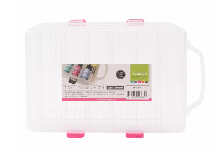 Vaessen Creative  Alcohol ink Plastic storage carrying case
