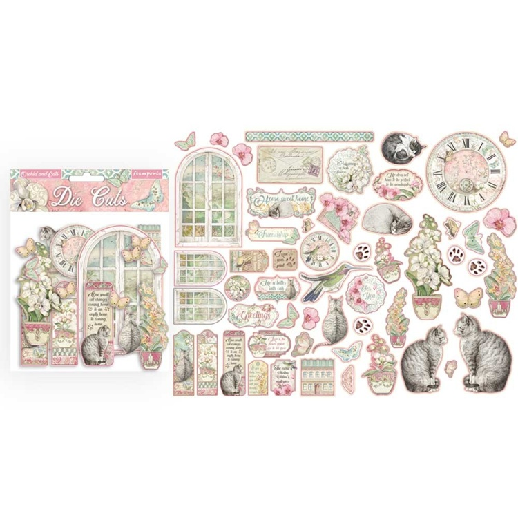 Stamperia Orchids and Cats Die Cuts