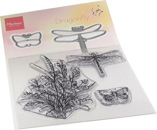 Marianne D Clear Stamp & die set Tiny's Libellen TC0880 120x185mm (01-21)