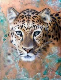S433 Diamond Painting Set Leopard 50x40cm Round