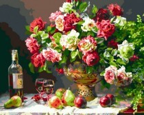 X151 Diamond Painting Set Bouquet-Wine 40x30cm