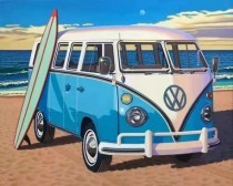 GM1333 Diamond Painting Set VW Van 50x40cm